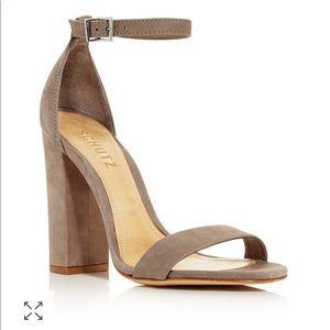 NWOT Schutz Enida Leather Block Sandals